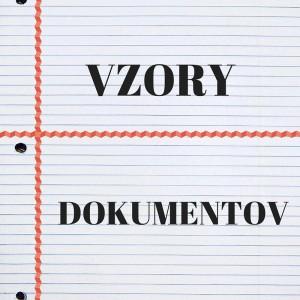 vzory dokumentov