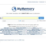Prekladateľská pamäť MyMemory