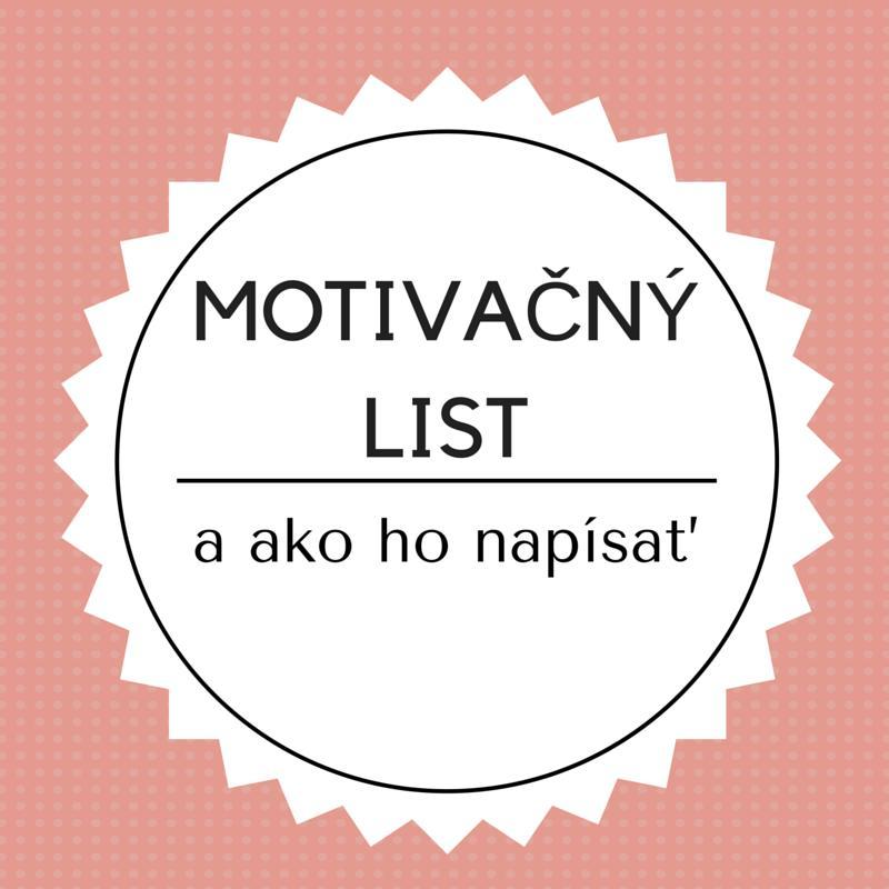 ako písať motivačný list