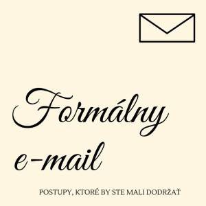 ako písať formálny e-mail