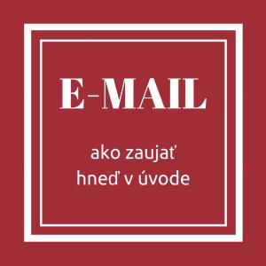 Písanie efektívneho úvodu e-mailu