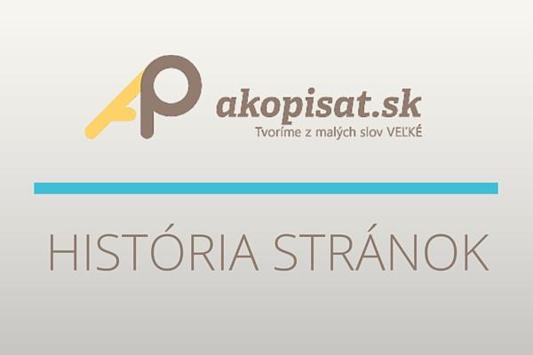 História webu Akopísať.sk