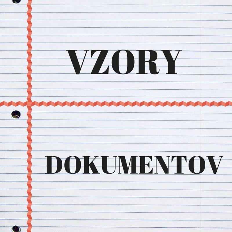Vzory Dokumentov Ivotopis Motiva N List A Iados